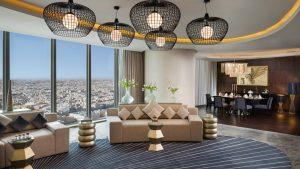 غرف واطلالة فندق برج رافال كمبينسكي الرياض